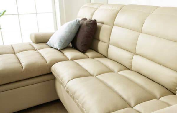 Cacia 4 Seater L shape leather Sofa