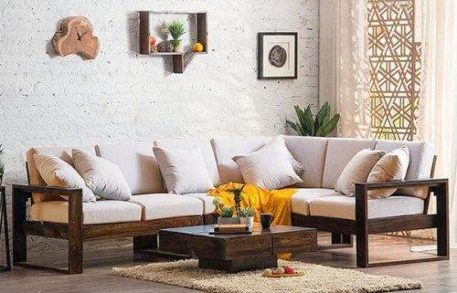 Corner Teakwood Sofa Set designs