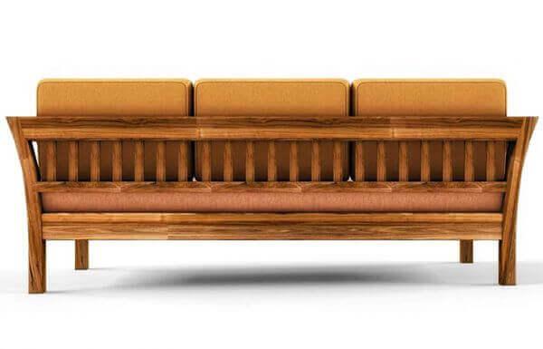 Elite 3 Seater Teakwood Sofa backside