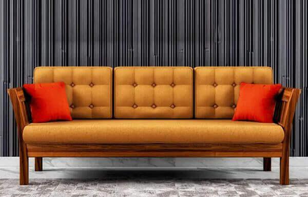 Elite 3 Seater Teakwood Sofa design