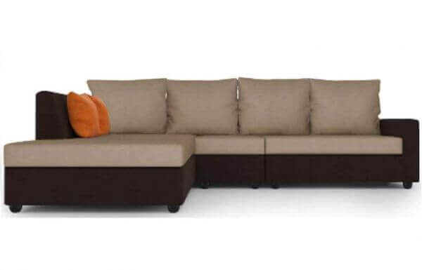 Elite L Shape Fabric Sofa Set 1