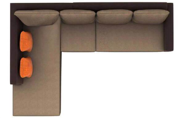 Elite L Shape Fabric Sofa Set 2