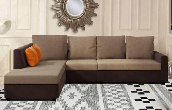 Elite L Shape Fabric Sofa Set