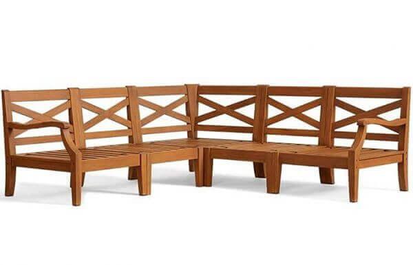 Outdoor Sofa Set with Teakwood frame