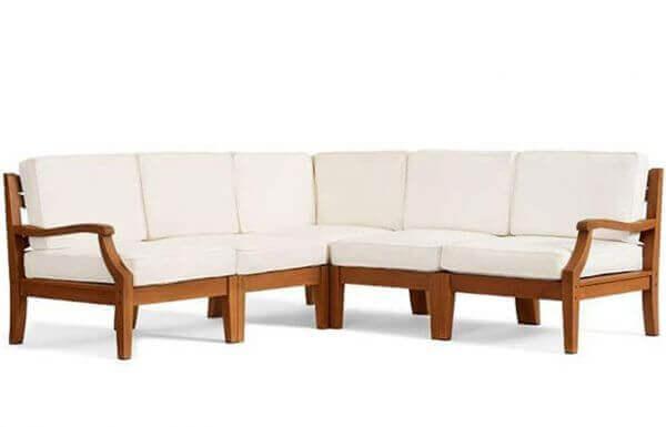 Outdoor Sofa Set with Teakwood2