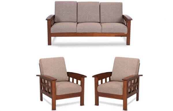 Teak wood Sofa Set (Teak Polish)   Elite Sofa manufacturer ...