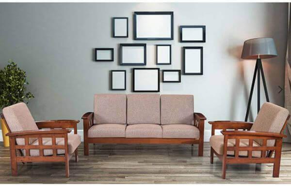 Teak wood Sofa Set (Teak Polish)