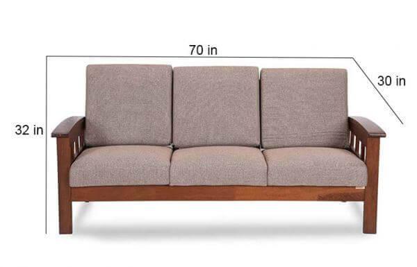 Teak wood Sofa size