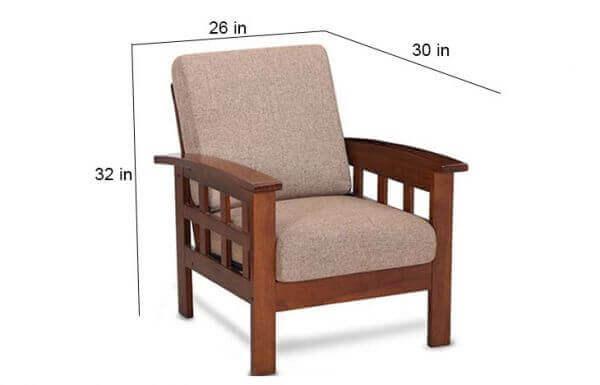 Teakwood Sofa size