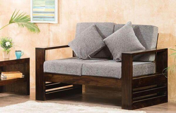 Teakwood Wooden Sofa Set 2 seater