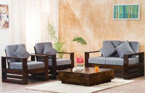 Teakwood Wooden Sofa Set
