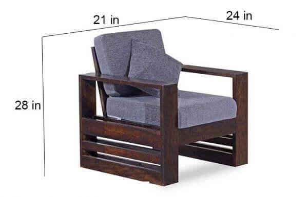 Teakwood Wooden Sofa Set size