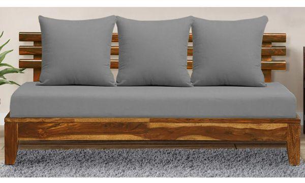 Teak wood sofa Three Seater design