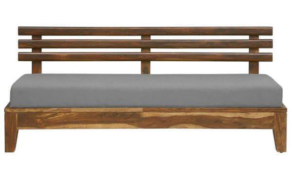 Teakwood sofa Three Seater fabric