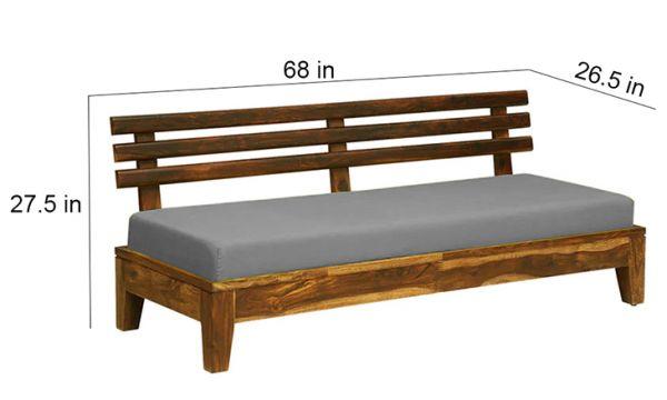 Teakwood sofa Three Seater size
