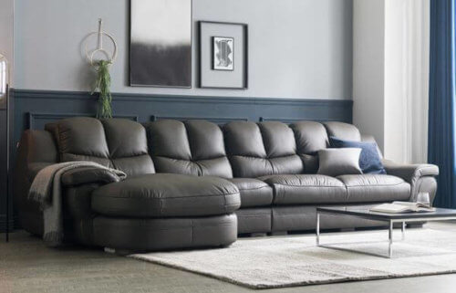 Zamia Five Seater L shape Elite Sofa